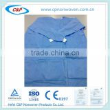 Disposable Sterile Blue SMS Nonwoven Standard Surgical Gown/Reinforced Surgical Gown