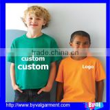OEM Wholesale child custom cotton t shirt with free design kids blank printed shirt