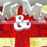 Solid Mr & Mrs Wooden Letters for Wedding Decoration Sign Top Table Present Decor