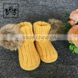 0-3-6-12 Month China Factory Wholesale Comfortable Handmade Baby Won Shoes Toddler Booties Crochet Pattern
