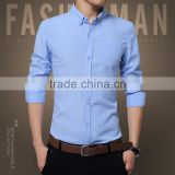 Men's high quality pure color business shirt