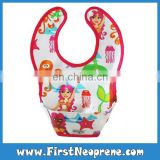 Pretty Mermaid Pick Rice Pocket Baby Fashion Design Neoprene Bibs