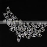 Wholesale flower Crystal Beaded Bridal Crystal Rhinestone Applique for decoration