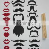 33pc Wedding Birthday Party Photographs Photo Booth Props Mustache On A Stick