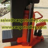 Safety performance of hydraulic jack