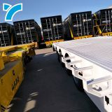 Made in china gooseneck low platform semi low flatbed trailer lowbed truck trailer for sale