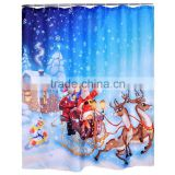 Christmas series design digital printing shower curtain