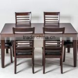 Wooden heavy-duty dining table and chairs set of high quality                                                                         Quality Choice
