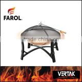Steel outdoor freestanding artificial fireplace