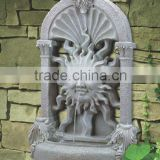 Fiberglass garden wall fountain