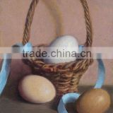 Blue lace lay many eggs in the basket decoration sitting room decoration oil painting in canvas