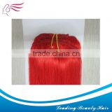 Brazilian hair weft in 100% human hair hot sale hair weaving red color
