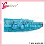 2014 Good quality factory promotional christmas fancy knit braided headbands for girls (578-579)