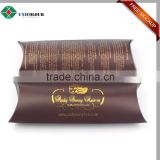 gold foiled fashion pillow hair extension packaging box