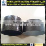Carbon fiber exhaust pipe for motorcycle with glossy surface finish