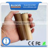 Tube unique handy charger 2600mah ,wholesale wood power bank gift