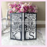 Cheap custom initials wedding invitation card factory wholesale birthday greeting card with RSVP printing card