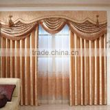 Euro style polyester flower design printing blackout fabric window curtain living room curtains