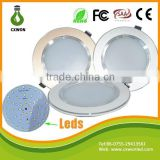 Ce rohs approved led downlights 5 inch aluminum three color housing 12w led recessed ceiling light