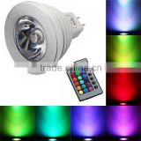 Famous 24 Key Remote Control rgb led spot lights Aluminum color changing spot lamps mr16 rgb led spot 12v