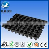 oem factory vacuum formed blister black color plastic trays agriculture