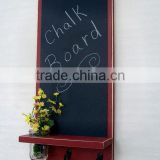 Antique decorative wood wall menu black chalk board for writing with key hooks                                                                         Quality Choice