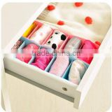 J409 5 grid multi purpose can be superimposed on the underwear socks accessories box/storage box