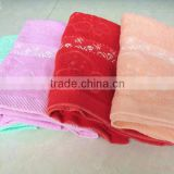 stock embroidery printed wholesale cotton bath towel