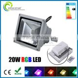 20w 30w 50w color changing Landscape Outdoor Lamp Garden IR Remote , wireless rf remote control floodlight with plug