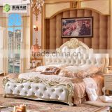 Antique Luxury Rococo European Baroque Bed French Provincial Wedding Hand Carved Wooden MDF Bedroom Set Cardboard Furniture                                                                         Quality Choice