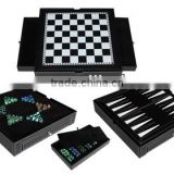 Amazing Double Use Backgammon And Chinese Checker PU Names Of Indoor Games