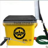 Electric spraying car washer with brush for car washing, windows, floorboard, air-condition,spray flowers
