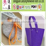 multi polyester drawstring colorful felt bag (popular colorful felt for handicrafts)