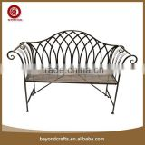 Delicate China custom various style cast iron garden bench