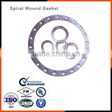 Metal o ring Spiral wound gasket SS316 Graphite with inner and outer ring Metal spiral wound gasket