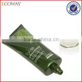 high quality cosmetic facial cleanser tube with silver plating screw cap