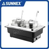 SUNNEX Factory Price Classic Full Size Water Pan Stainless Steel Bain Maries 4LTR x2 CE Approved Electric Chafing Dish