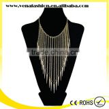 gold silver bullet tassel women accessories necklace