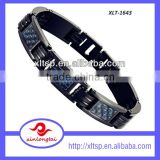 Fashion men's stainless steel Link Bracelet hand chain bangle silicone titanium energy bracelet