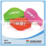 Chip NTAG203 Waterproof Silicone RFID Wristband