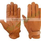 Cowhide Leather Horse Riding Gloves