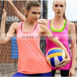 Womens Athletic Sport quick dry Vest Training Shirt for Gym Tops