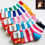Fashion Rainbow Striped Cotton girl and boy children socks child tube sock funny patterned socks
