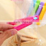 Hot sale Colorful Food Plastic Bag Seal Sealing Clip Clamp Sealer With date / food bag clip