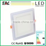 round & square Combination Design adjusted by switch 18w+6w 2 colors led panel light