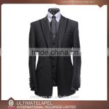 New style high quality custom tailor made men slim fit mens suits with piping                                                                                                         Supplier's Choice