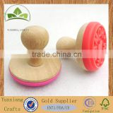 Hot sale real wooden stamp;custom wooden stamp for biscuit branding stamp
