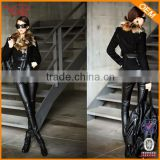 High quality fashion sex women Leather Pants wholesale black