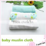 Eco-friendly breathable baby muslin cloth aquqa owl