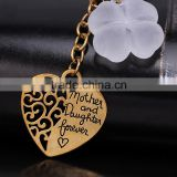 In Stock Charm Key Chain Mother and Daughter Forever Love Heart Keychain Keyring For Gift